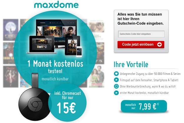Chromecast mit maxdome