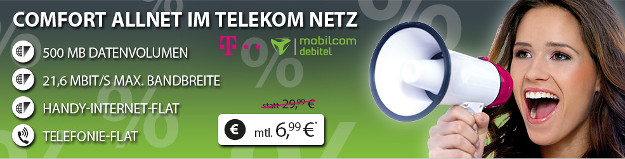 Telekom Comfort Allnet für 6,99 €