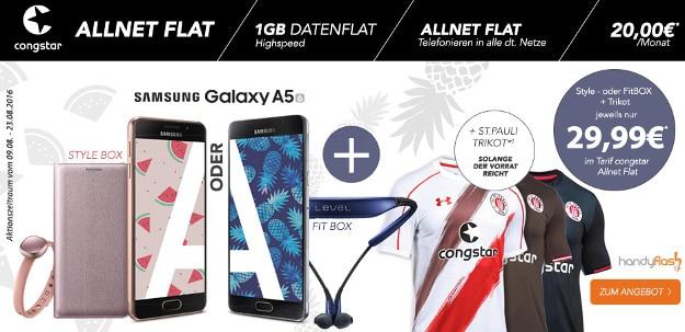 congstar Allnet-Flat + Samsung Galaxy A5