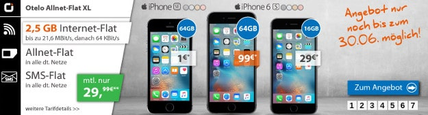 iPhone SE + otelo Allnet-Flat XL