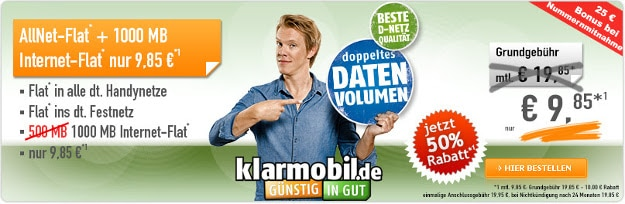 klarmobil All-Net Flat 1000
