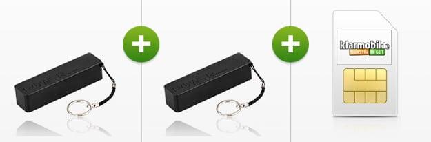 klarmobil Smartphone Flat mit 2 Powerbanks