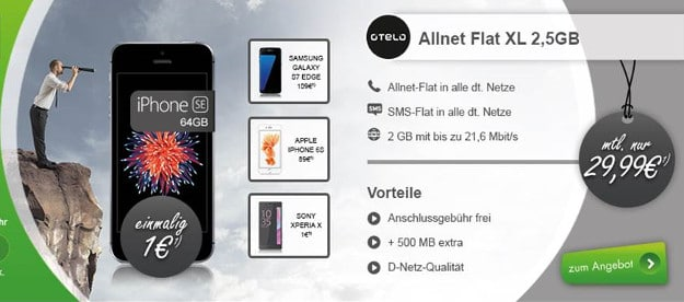 otelo Allnet-Flat XL + iPhone SE
