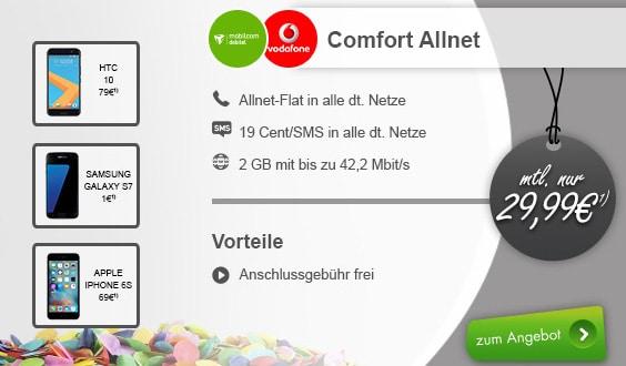 Comfort Allnet Vodafone (md) + Samsung Galaxy S7