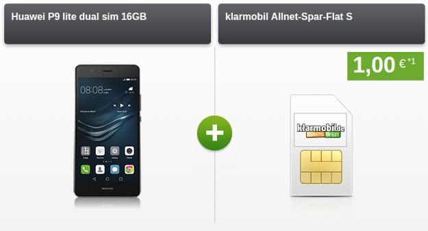 Huawei P9 Lite + klarmobil Allnet-Spar-Flat S