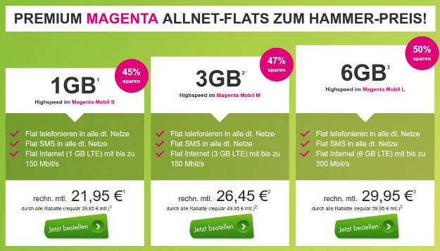 Magenta SIM-only Angebot von modeo