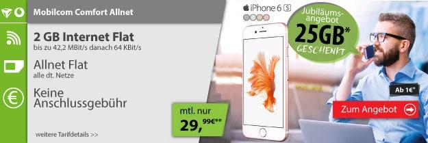 Mobilcom-Comfort-Allnet-Flat-mit-iPhone 6s 32GB