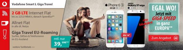 Samsung Galaxy S7 Edge + Vodafone Smart L