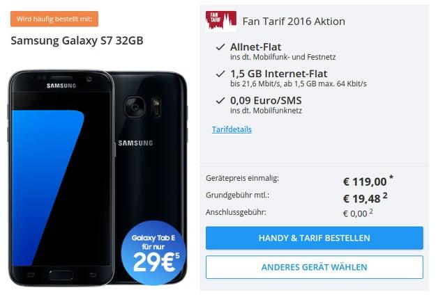 Samsung Galaxy S7 + Fan Tarif