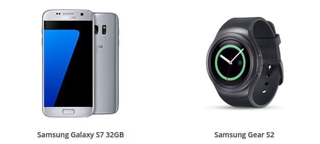 Samsung Galaxy S7 + Smartwatch