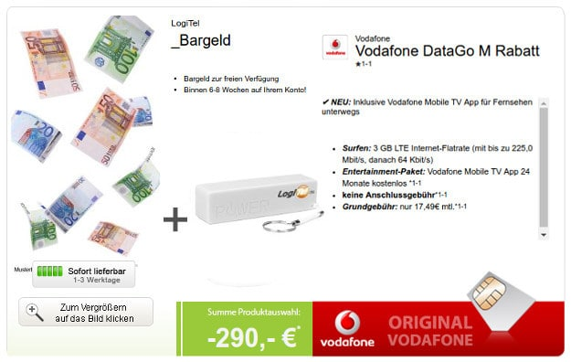 Vodafone Data Go M + Powerbank