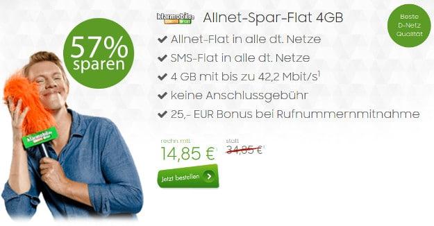 klarmobil Allnet-Spar-Flat 4GB