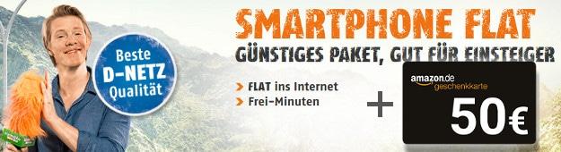 klarmobil Smartphone Flat 300 + Amazon-Gutschein