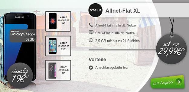 otelo Allnet-Flat XL + Samsung Galaxy S7 Edge