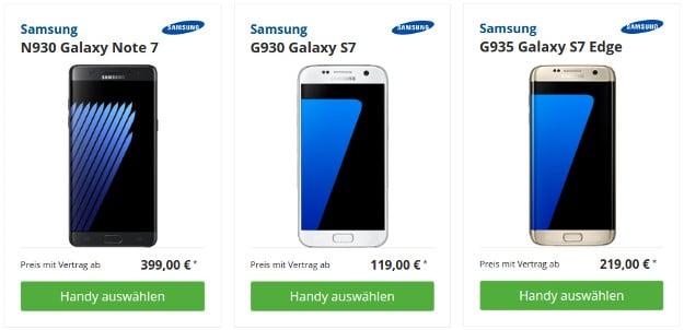 Lilien-Tarif mit Samsung Smartphone