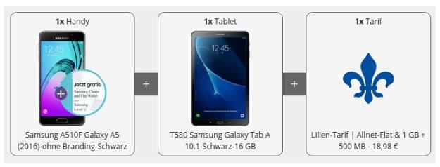 Samsung Galaxy A5 + Lilien-Tarif