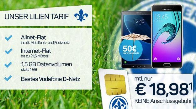 Samsung Galaxy A5 + Tablet + Lilien-Tarif
