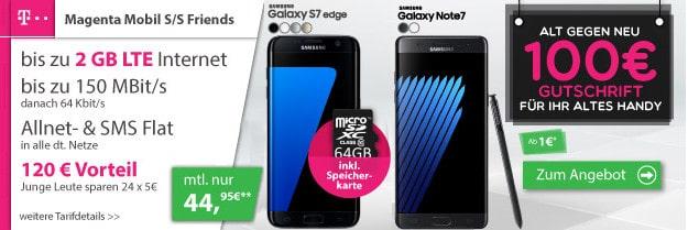 Samsung Galaxy Note 7 + Telekom Magenta Mobil S