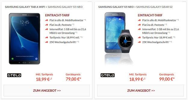 Samsung Galaxy S5 Neo + Eintracht-Tarif