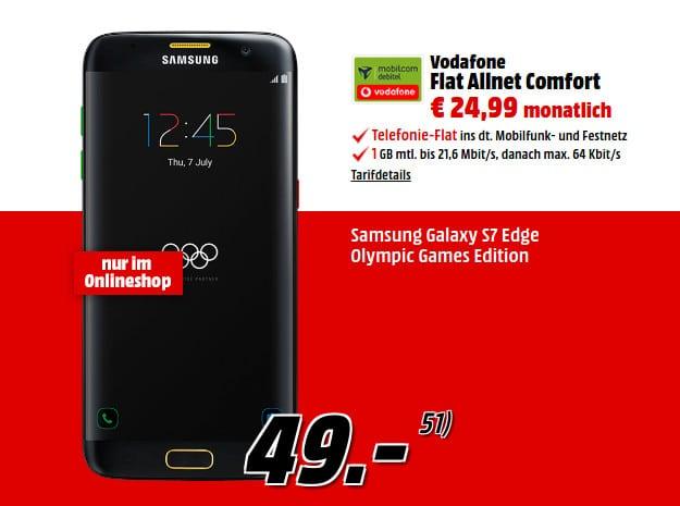 Samsung Galaxy S7 Edge Olympic + Flat Allnet Comfort