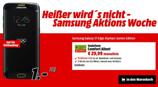 Samsung Galaxy S7 Edge Olympic + Vf Comfort Allnet