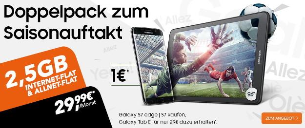 Samsung Galaxy S7, S7 Edge + otelo Allnet-Flat XL Doppelpack