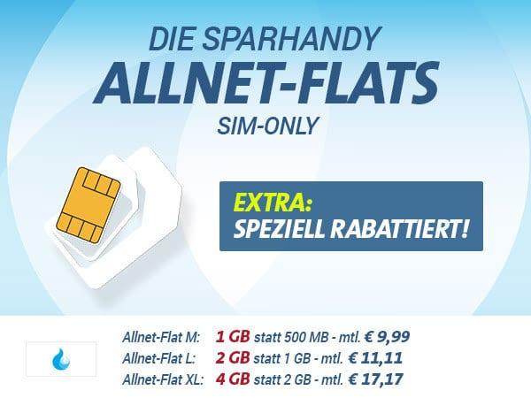 Sparhandy Allnet-Flats Rabattiert