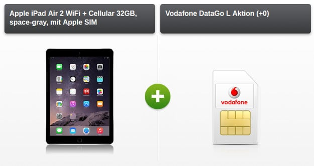 iPad Air 2 + Vodafone DataGo L mit 12GB