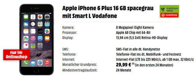 iPhone 6 Plus + Vodafone Smart L (md)