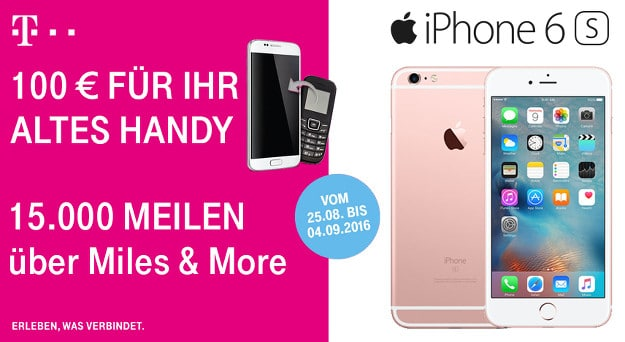 iPhone 6s + Magenta Mobil S
