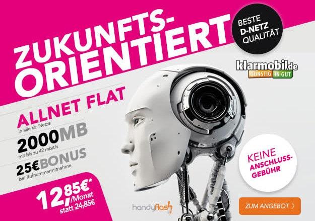 klarmobil allnet-flat mit 2 GB im Telekom-Netz