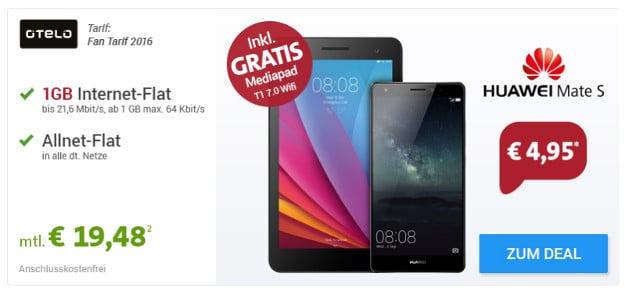 otelo Fan Tarif + Huawei Mate S + Tablet
