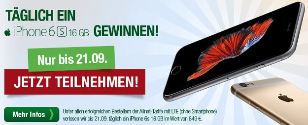 smartmobile iPhone 6s gewinnen