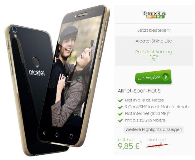 Alcatel Smartphone + klarmobil Allnet-Spar-Flat