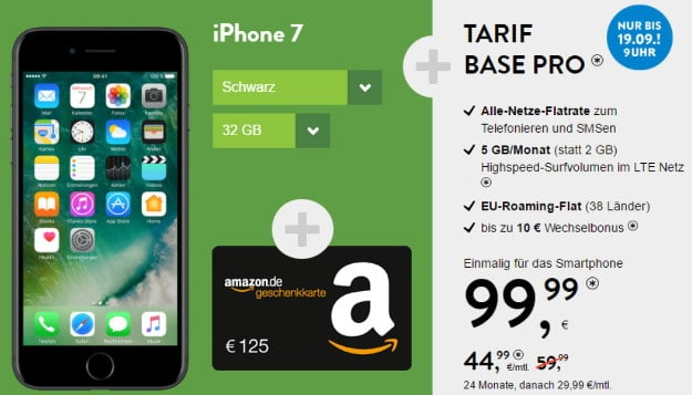 BASE Pro + iPhone 7 Bonus-Deal