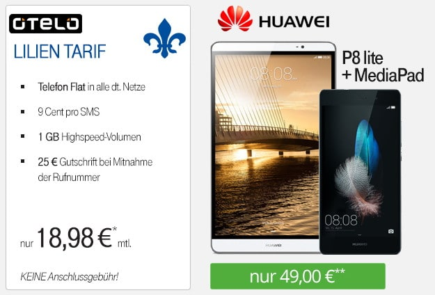 Lilien-Tarif + Huawei P8 Lite