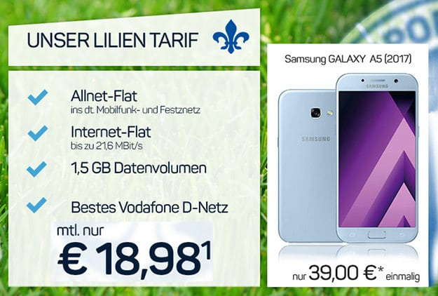Lilien Tarif + Samsung Galaxy A5