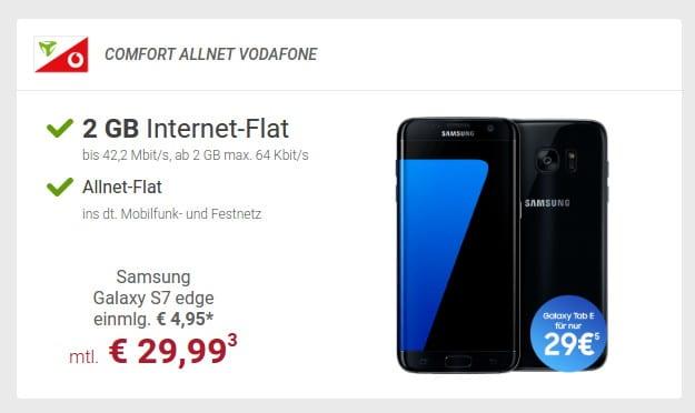 S7 Edge + Comfort Allnet Vodafone (md) bei Sparhandy