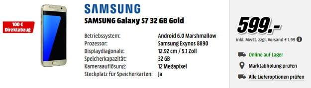 Samsung Galaxy S7 100 € Rabatt