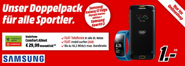 Samsung Galaxy S7 Edge + Gear Fit + Vodafone Comfort Allnet (md)
