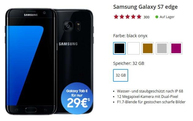 Samsung Galaxy S7 Edge + otelo Allnet-Flat XL Sparhandy