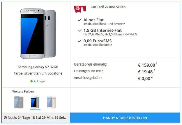 Samsung Galaxy S7 + Fan-Tarif