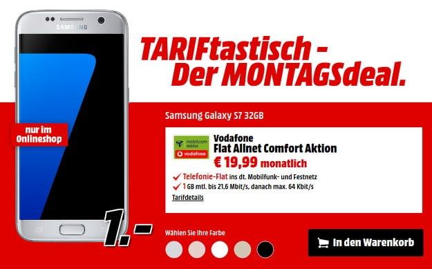 Samsung Galaxy S7 + Vodafone Flat Allnet Comfort (md) Media Markt
