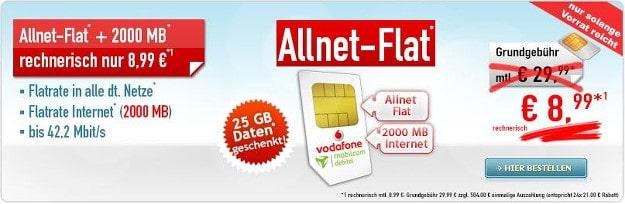 Vodafone Comfort Allnet SIM-only