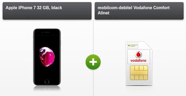 iPhone 7 + Vodafone Comfort Allnet (md) modeo