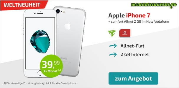iPhone 7 + Vodafone Comfort Allnet (md)