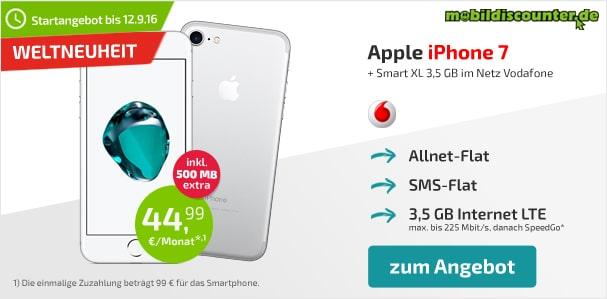 iPhone 7 + Vodafone Smart XL