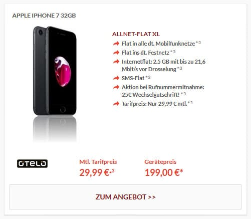 iPhone7 - otelo Allnet-Flat XL