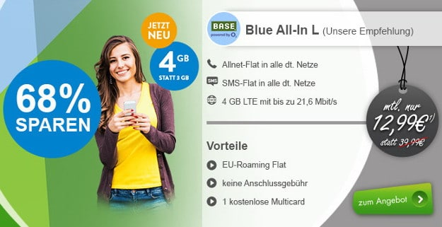 o2 Blue All-in L bei modeo