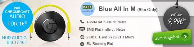 Base o2 Blue All-in M + chromecast Audio
